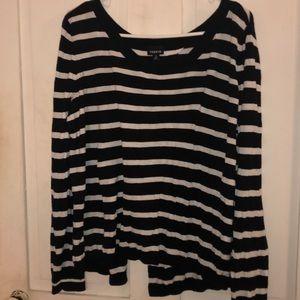 Torrid Split Back Sweater Size 3
